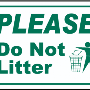 No Littering signs